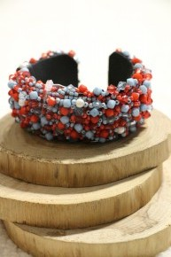 Party Time Beaded Cuff Bracelet