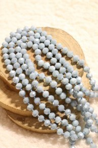 Point Of Perfection Beaded Necklace in Powder Blue