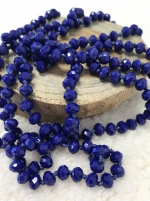 Point of Perfection Beaded Necklace in Royal Blue