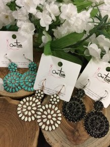 All Dolled Up Circle Earrings In Multiple Colors