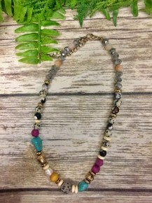 Best Of Me Beaded Necklace In Gray