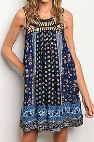Forever Boho Crochet & Floral Dress - Sizes 4-10