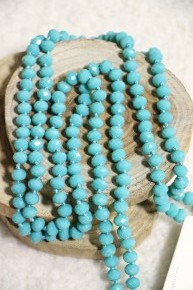 Point Of Perfection Beaded Necklace In Turquoise