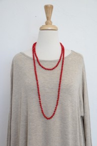 Point Of Perfection Beaded Necklace in Red
