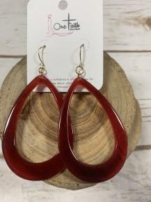 Greatest Ever Teardrop Earrings - Burgundy