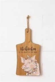 The Kitchen is the The Heart of the Home Pig Decor