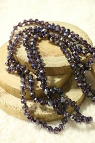 Point Of Perfection Beaded Necklace In Violet