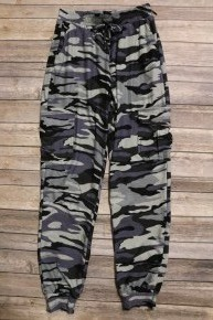 Find Me Now Gray Camo Joggers - Sizes 4-20