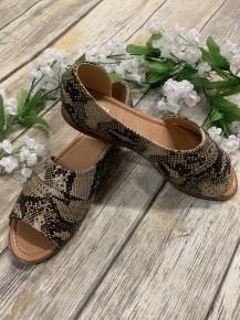 Oh So Blessed Snake Skin Sandal
