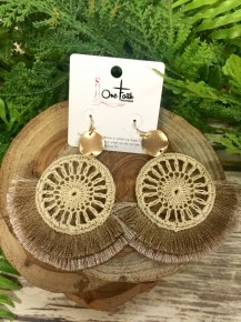 As You Are Double Tassel Crochet Earrings