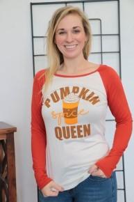Pumpkin Spice Queen Raglan Sizes 4-10