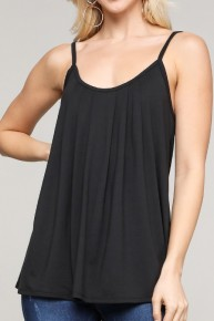 My Song Pleated Front Tank In multiple Colors- Sizes 4-20