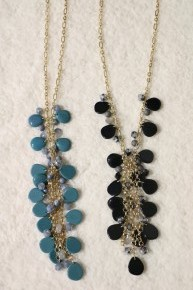 Back In The Day Beaded Necklace With Gold Chain In Multiple Colors