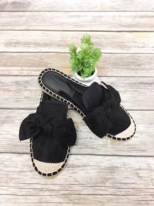 I Told You So Espadrille Slip-On Shoes ~ Black