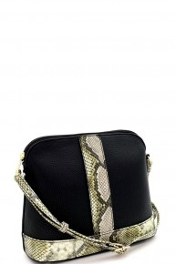 Take You There Snakeskin Accented Crossbody in Multiple Colors