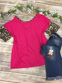 Known To Be Beautiful  Leopard And Fuchsia Top-Sizes 12-20