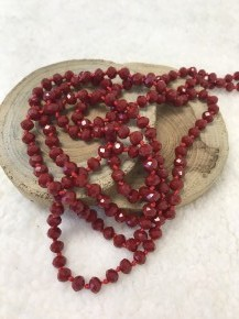 Point Of Perfection Beaded Necklace in Burgundy