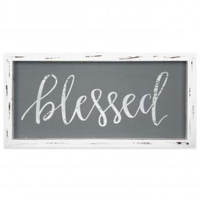 Blessed Framed Linen Sign