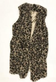 Past Love Leopard Eyelash Waterfall Vest One Size