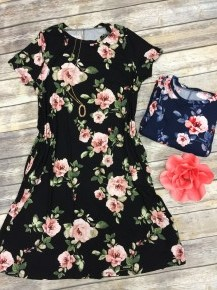 Float Away With Me Floral Dress With Pockets - Multiple Colors - Sizes 12-20