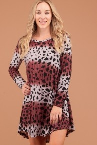 Our God Is Here Leopard Two-Tone Dress - Multiple Colors - Sizes 12-20