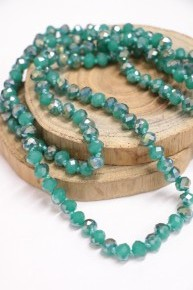 Point Of Perfection Beaded Necklace In Teal Green Dream