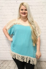 One Last Time Crochet Fringe Top In Multiple Colors- Sizes 12-20