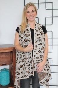 Golden Opportunities Ivory Leopard Vest Sizes 4-20