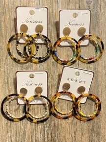 Time For Fun Double Hoop Earring In Multiple Colors