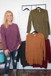 Everlasting Feelings Round Neck Popcorn Sweater- Sizes 4-12