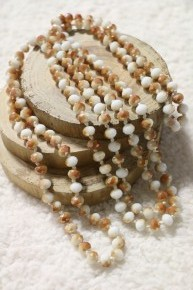 Point Of Perfection Beaded Necklace In Carrot Cake