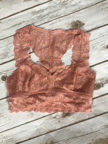 Midnight Lace Bralette ~ Coral ~ Sizes 4-10