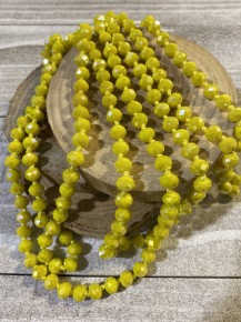Point of Perfection Beaded Necklace in Yellow