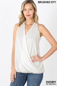 Free To Be Me Halter Neck Surplice Top In Multiple Colors- Sizes 4-12