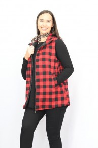 Take Me Out Buffalo Plaid Vest Sizes 4-18