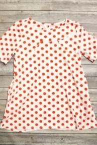 Let's Play Polka Dot Tunic Top In Multiple Colors