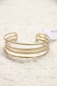 Taken Gold Metal Cuff Bracelet