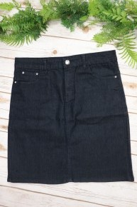 The Heather Dark Denim Skirt- Sizes 10-22