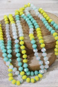 Point Of Perfection Beaded Necklace In Flounder