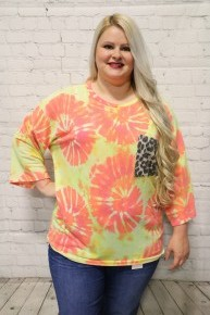 All My Days Tie Dye Top In Multiple Colors ~ Sizes 12-20
