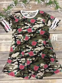 Set You Free Camo And Floral Dress Sizes 6-12