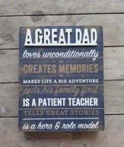 """A Great Dad..."" Wood Box Sign"