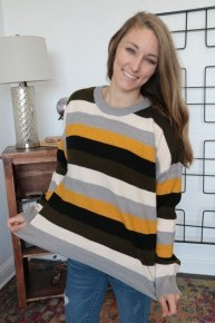 High Five Striped Sweater In Multicolor - Sizes 4-10
