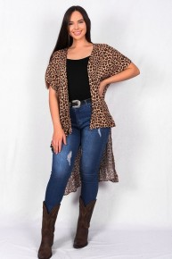 The Adventure Leopard High Low Cardigan Sizes 4-20