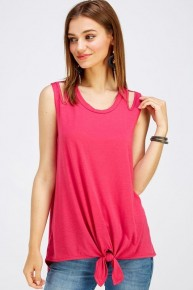 It's a Summer Thing Slit Shoulder Tank in Multiple Colors - Sizes 4-20