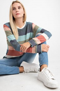 Remember Now Striped Long Sleeve Top Sizes 4-10