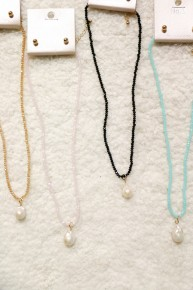 Sweetness Short Beaded Necklace With Fresh Water Pearl In Multiple Colors