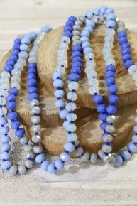Point Of Perfection Beaded Necklace In Sweet Carolina Blue