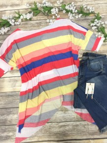 Live Like This Multicolor Waffle Knit Top- Sizes 4-10