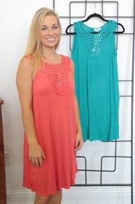 Now or Never Crochet Accented Dress in Multiple Colors - Sizes 4-10
